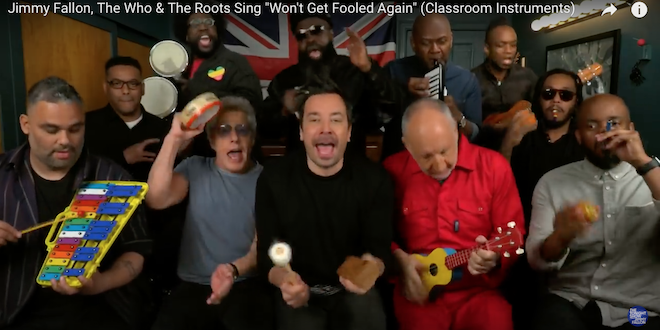 Jimmy Fallon, The Who & The Roots Perform Won't Get Fooled Again on Classroom Instruments