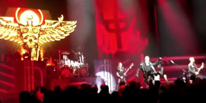 WATCH: Rob Halford Punts A Fan's Cell Phone