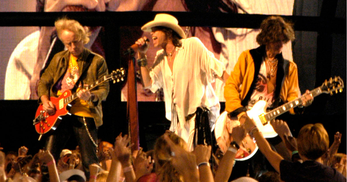 Aerosmith on stage