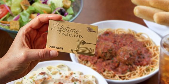 Olive Garden Is Selling LIFETIME Pasta Passes