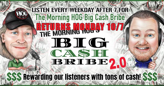 BIG CASH BRIBE returns Monday!