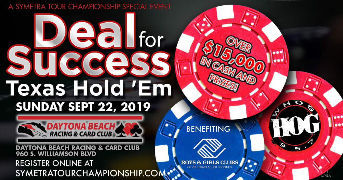 Symetra Tour Championship special event - deal for success texas hold 'em poker tournament