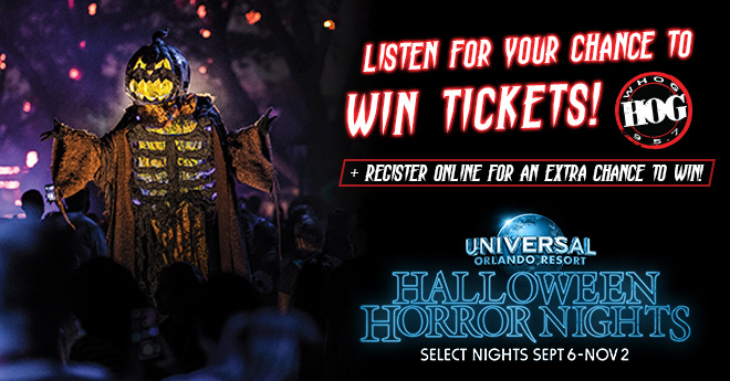 95.7 The Hog Wants You To Experience Halloween Horror Nights at Universal Orlando Resort
