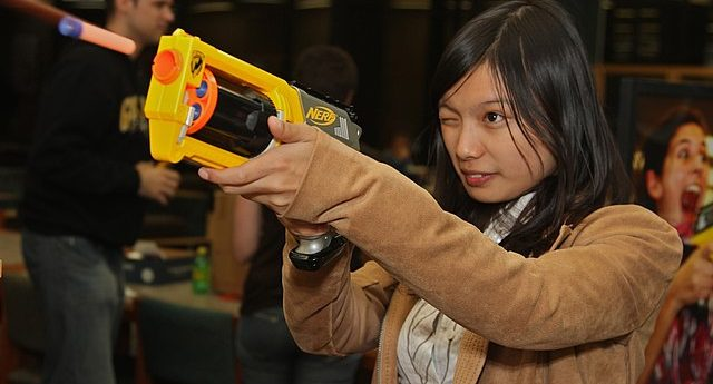 Woman Pistol-Whips Husband With Nerf Guns