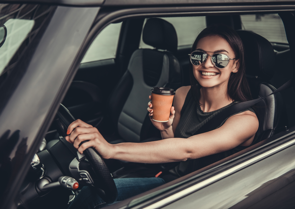 Coffee in a car