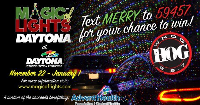 Text To Win A Magic Of Lights Car Pass!