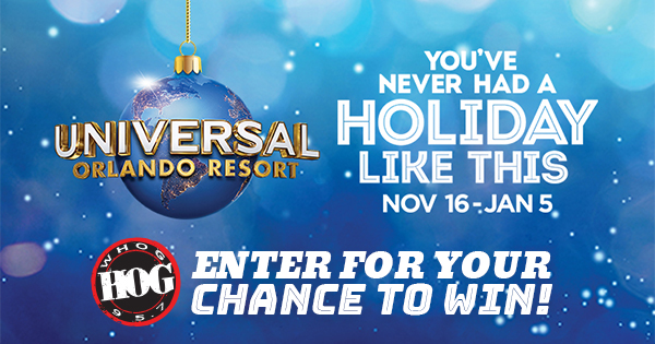 95.7 The Hog Wants You To Enjoy The Holidays At Universal Orlando Resort!
