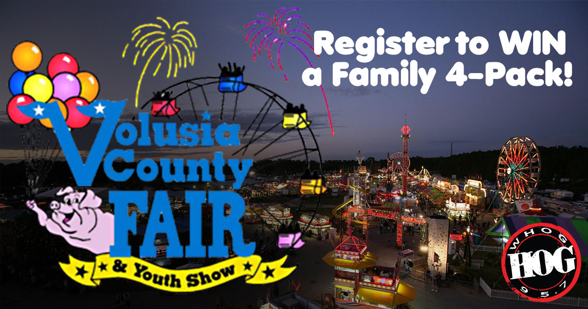 Register To Win Tickets to the Volusia County Fair from 95.7 The Hog
