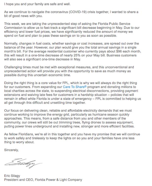 FPL-Letter