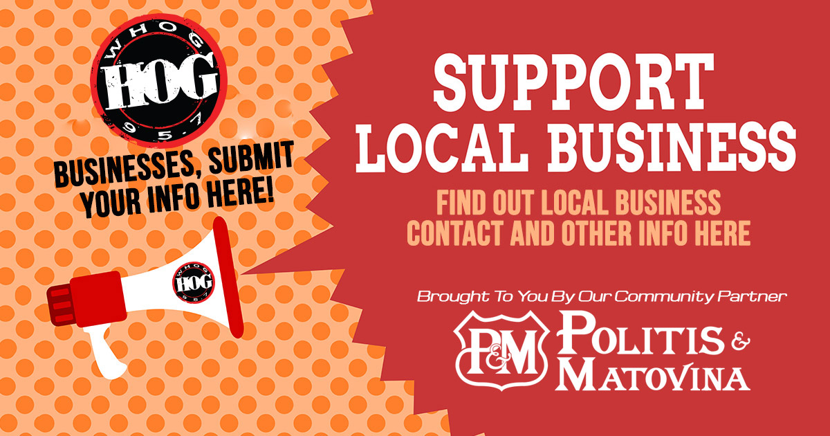 95.7 The Hog supports local small businesses