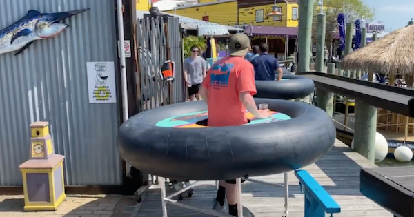 Maryland Bar Solves Social Distancing Problem with Bumper Tables on Wheels