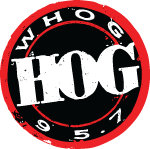 95.7 The Hog — Daytona's Rock Station logo