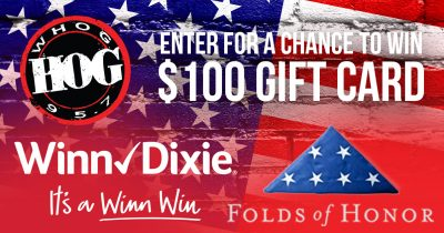 95.7 The HOG Winn-Dixie Folds of Honor $100 Giftcard Sweepstakes