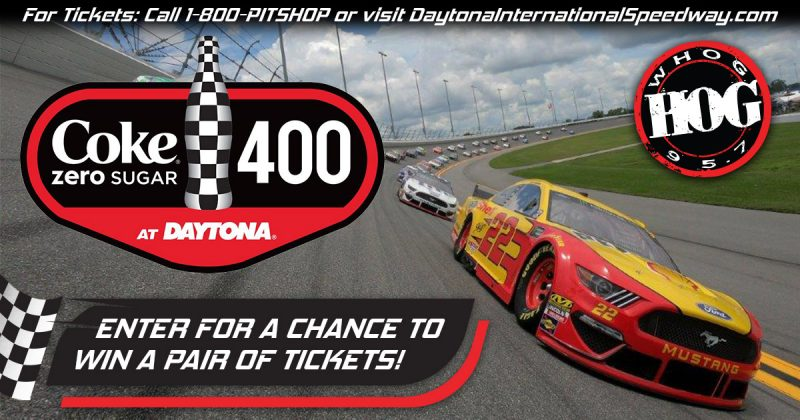 2020 Coke Zero Sugar 400 win tickets from 95.7 the hog