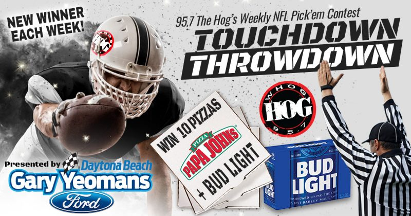 WHOG 95.7 The Hog's Touchdown Throwdown NFL Pick em 2020