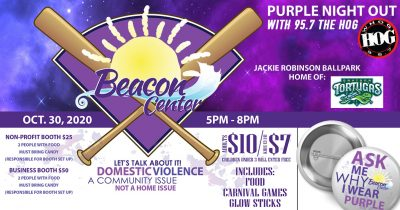 Purple Night Out with 95.7 The Hog and Daytona Tortugas