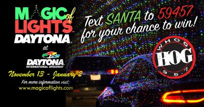 Text To win Magic of Lights tickets from 95.7 The Hog!